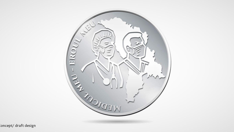 """projekt monety kolekcjonerskiej """"mój lekarz - mój bohater"""""""